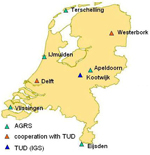 Primary reference stations in the Netherlands.